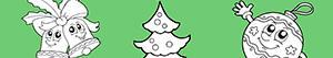 Omalovánky Zdobí vánoční strom