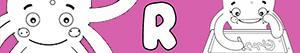 Omalovánky Jména pro Dívky na písmeno R
